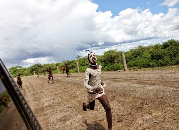 """Kelionių organizatoriaus """"GRŪDA"""" nuotr./Jaunasis bėgikas, Etiopija"""