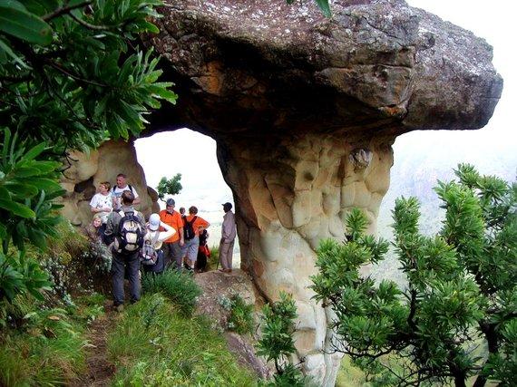 """Kelionių organizatoriaus """"GRŪDA"""" nuotr./""""GRŪDOS"""" keliautojai Drakono kalnuose, Pietų Afrikos Respublika"""