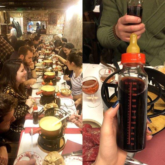"""Kelionių organizatoriaus """"GRŪDA"""" nuotr./Prancūziška vakarienė, Paryžius, Prancūzija"""