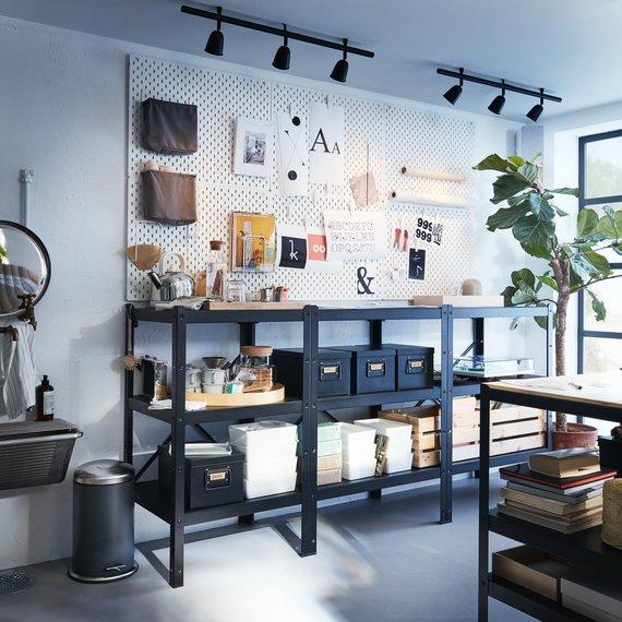 IKEA nuotr./Idėjos, kur ir kaip laikyti daiktus sodyboje