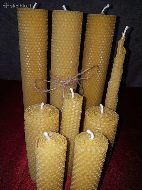 Skelbiu.lt/Natūralios ekologiškos bičių vaško žvakės
