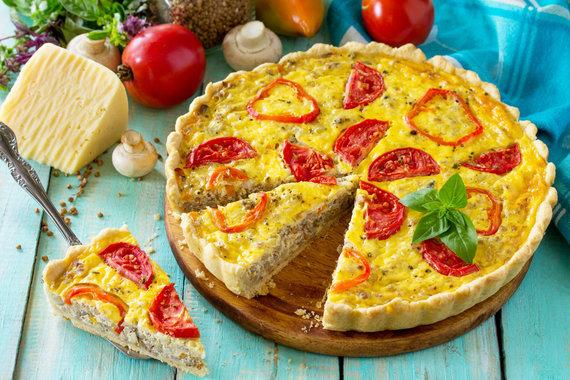 123RF.com nuotr./Pomidorų pyragas