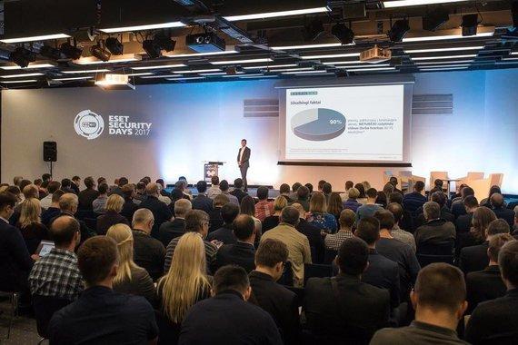"""Partnerio nuotr./ Kibernetinio saugumo konferencija """"ESET Security Days"""""""