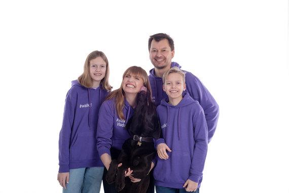 Partnerio nuotr./Vlada Musvydaitė su šeima