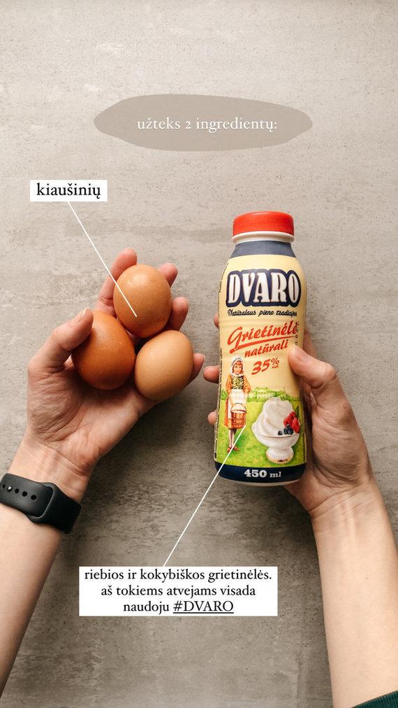 Asmeninio archyvo nuotr./Pusryčių guru Gabrielė siūlo ypatingą ryto derinį: grietinėlėje kepti kiaušiniai