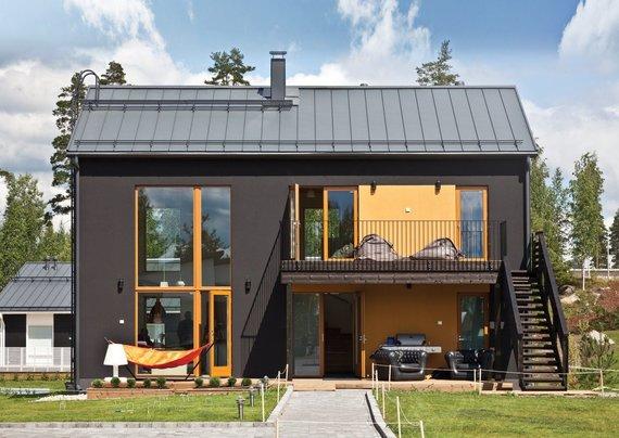 """Partnerio nuotr./""""Ruukki Classic"""" stogų dangos sparčiai populiarėja, jas renkasi ir klasikinio, ir modernaus bei minimalistinio stiliaus mėgėjai."""