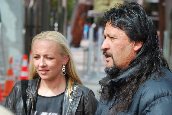 Agnės Dabravolskienės nuotr. /Agnė Dabravolskienė su maoriu gidu