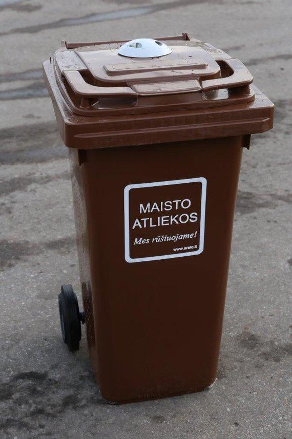 ARATC nuotr. /Maisto atliekoms skirtas konteineris