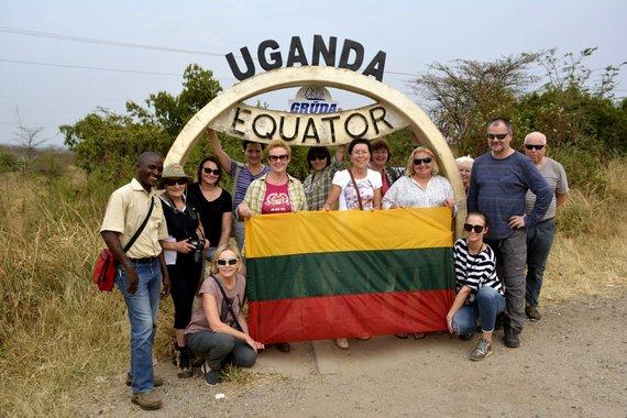 """Kelionių organizatoriaus """"GRŪDA"""" nuotr. /""""GRŪDOS"""" keliautojai Ugandoje"""