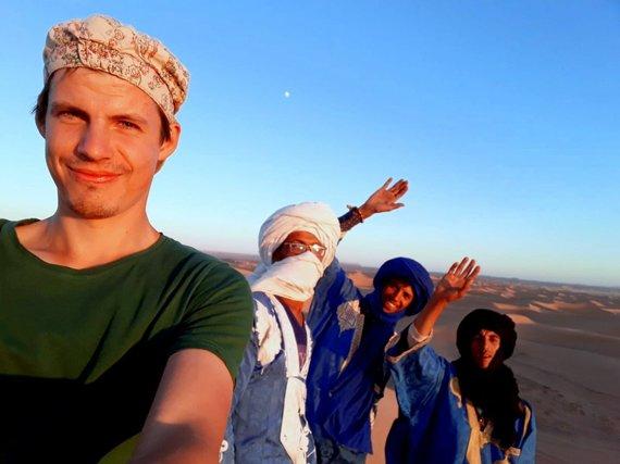"""Kelionių organizatoriaus """"GRŪDA"""" nuotr. /Kelionių organizatoriaus """"GRŪDA"""" kelionių vadovas V. Kneitas Maroke"""