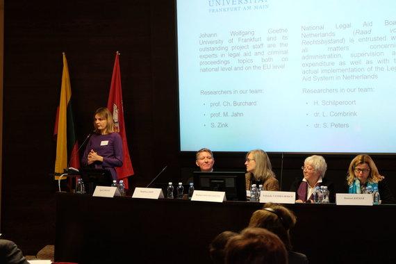 """Valstybės garantuojamos teisinės pagalbos tarnybos nuotr./Konferencija """"Teisinės pagalbos kokybės gerinimas: bendri standartai skirtingoms valstybėms"""""""