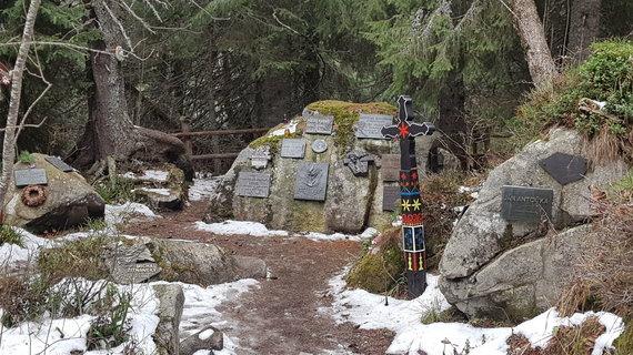 Simbolinės kapinės Tatrų kalnuose.
