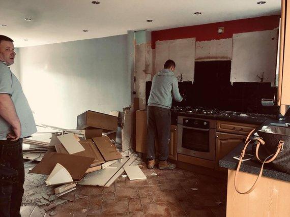 Asmeninio albumo nuotr. /Bostone gyvenančios lietuvės Rasos namai: prieš remontą ir po jo