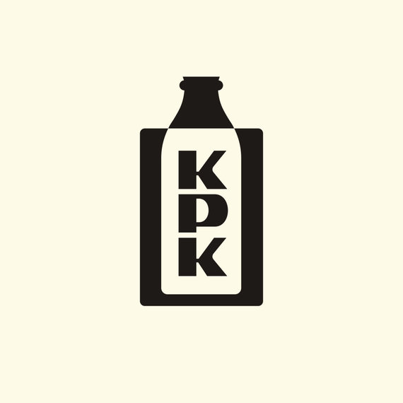 """R.Sutkaičio iliustracijos /Projektas """"Soviet Logos"""". Kauno pieno kombinato logotipas."""