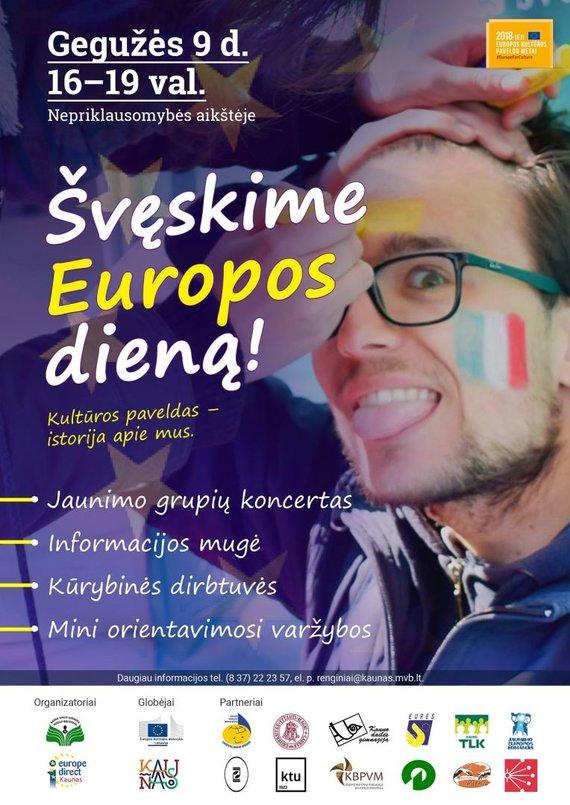 Organizatorių nuotr. /Kauniečiai kviečiami švęsti Europos dieną