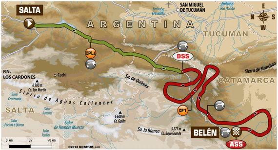 Organizatorių nuotr./10-asis Dakaro ralio greičio ruožas