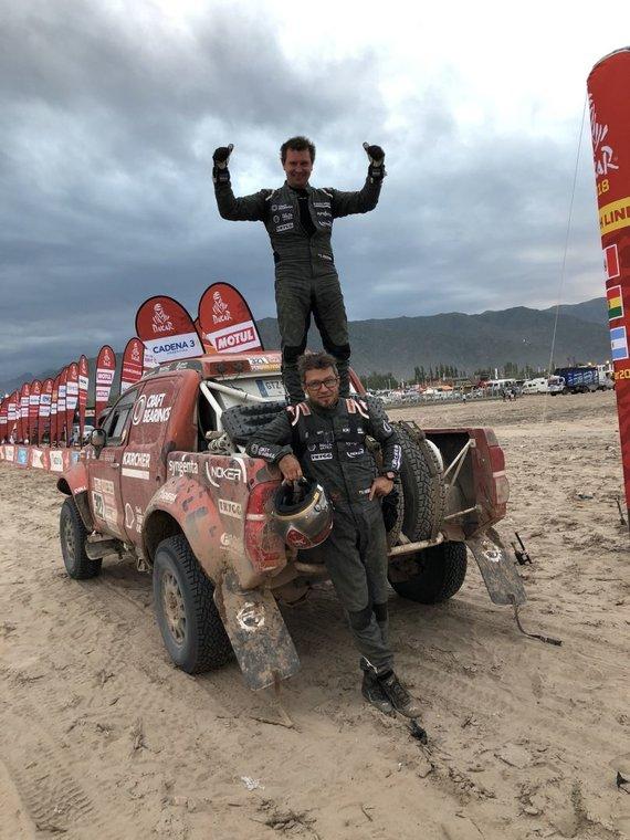 Craft Bearings nuotr./Antanas Juknevičius ir Darius Vaičiulis 10 Dakaro ralio greičio ruože pelnė aukščiausią iš lietuvių vietą