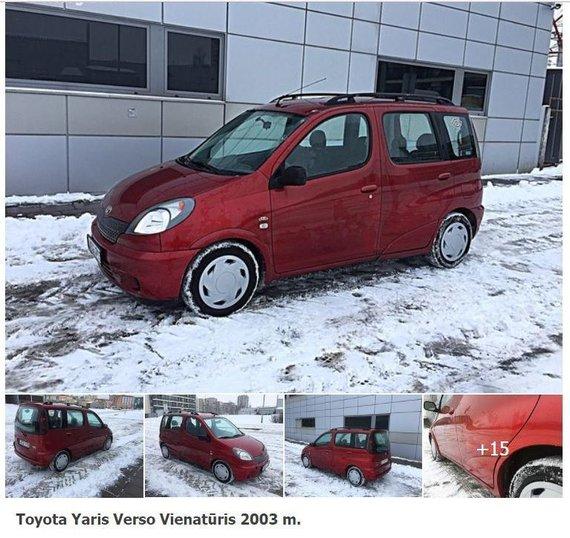 """Autogidas.lt nuotr./Parduodamo """"Toyota Yaris Verso"""" skelbimas"""