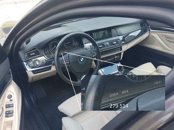 Autoplius.lt nuotr./BMW salono nuotrauka, kurioje prietaisų skydelyje matoma rida skiriasi nuo to, ką sako pardavėjas