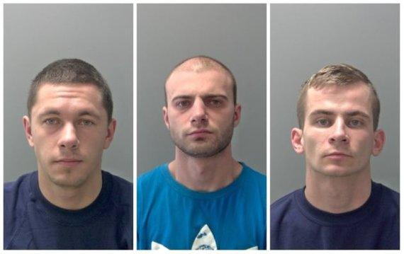 Norfolko policijos nuotr./Donatas Lukšas, Paulius Malakauskas ir Julius Pukys