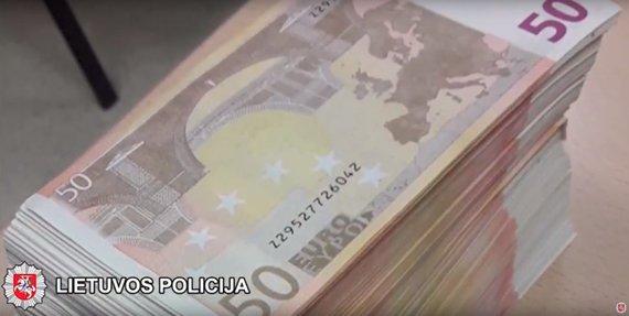 Vilniaus aps. VPK nuotr./Aptiktas kokainas ir netikri eurai