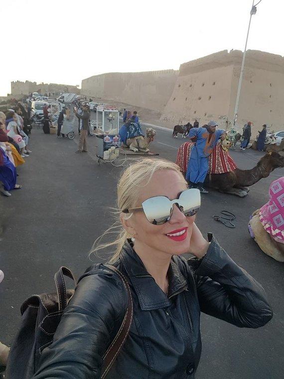 Asmeninio albumo nuotr. /Vaidos Genytės atostogų Maroke akimirka