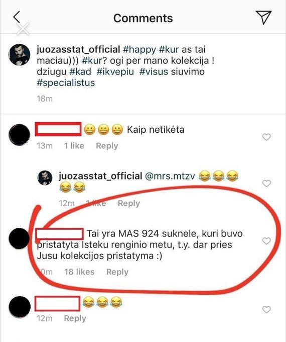 Socialinių tinklų nuotr. /Į Juozo Statkevičiaus komentarą sureagavę sekėjai
