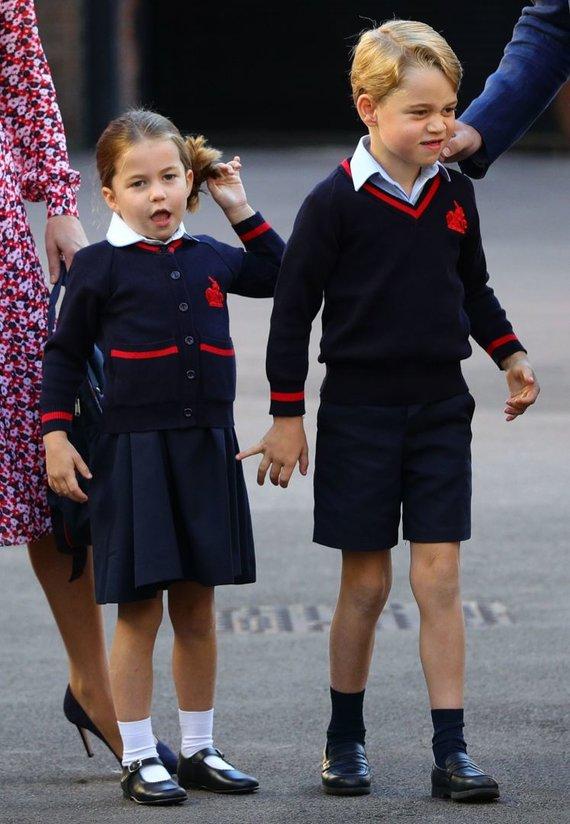 """""""Scanpix"""" nuotr./Princesė Charlotte su tėvais ir broliu"""