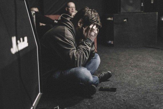 """Mantas Head shooter nuotr. /Grupės """"G&G Sindikatas"""" repeticijos akimirka"""