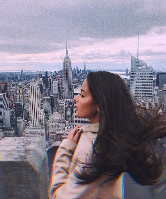 Asmeninio albumo nuotr. /Karolinos Meschino atostogos Niujorke