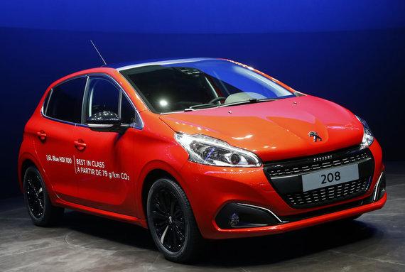 "Scanpix nuotr./""Peugeot 208"""