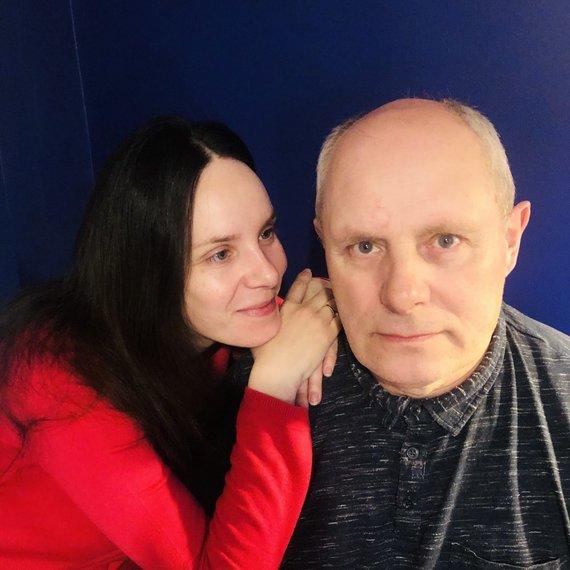 Asmeninio albumo nuotr./Valda Bičkutė su tėčiu