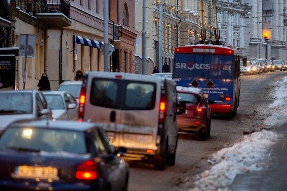 Josvydo Elinsko / 15min nuotr./Eismo spūstys Vilniuje