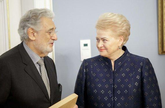 Josvydo Elinsko / 15min nuotr./Placido Domingo ir Dalia Grybauskaitė