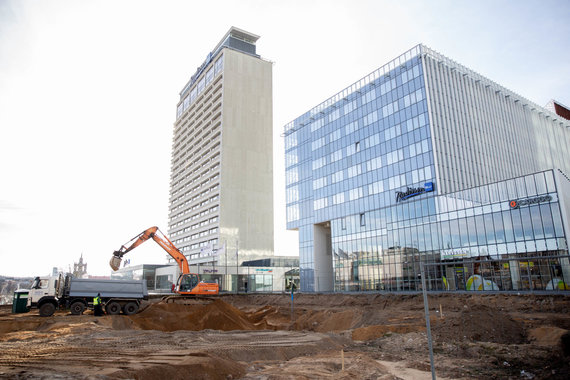 "Josvydo Elinsko / 15min nuotr./""Lords LB Asset Management"" pradėjo D.Libeskindo projektuoto pastato statybas"