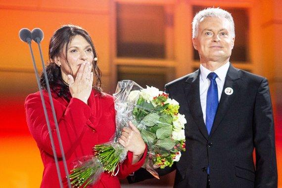Josvydo Elinsko / 15min nuotr./Gitanas Nausėda su žmona Diana