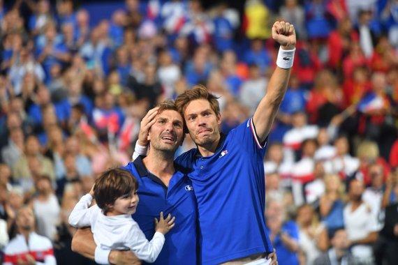 """AFP/""""Scanpix"""" nuotr./Julienas Benneteau ir Nicolas Mahut"""