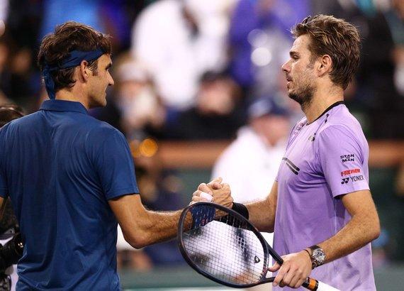 "AFP/""Scanpix"" nuotr./Rogeris Federeris ir Stanas Wawrinka"
