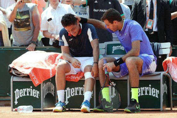 "AFP/""Scanpix"" nuotr./Nicoloso Almagro patirta trauma ""French Open"" turnyre"
