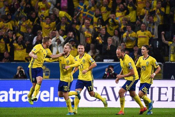 """AFP/""""Scanpix"""" nuotr./Švedijos futbolo rinktinė"""