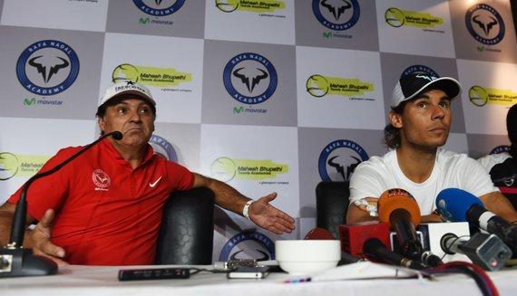 """AFP/""""Scanpix"""" nuotr./Toni Nadalis ir Rafaelis Nadalis"""