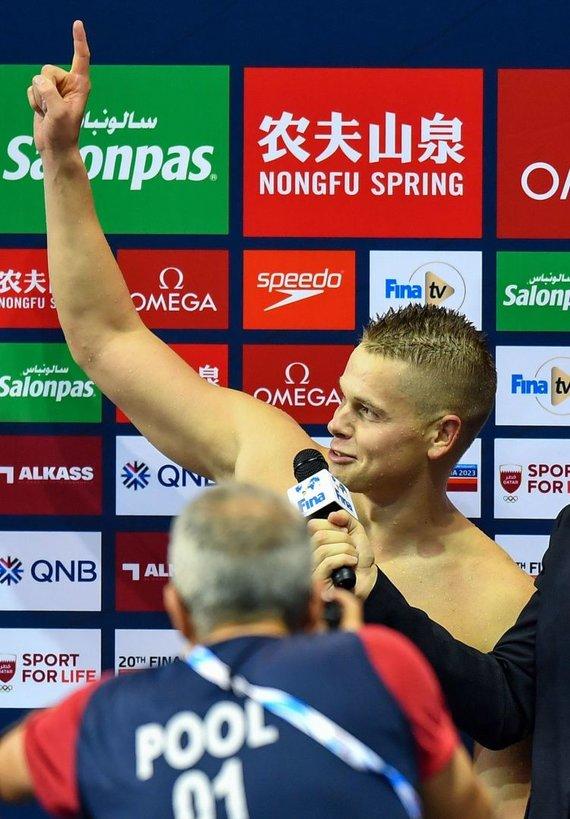 """""""Scanpix""""/""""SIPA"""" nuotr./Danas Rapšys FINA pasaulio taurės etape Dohoje"""