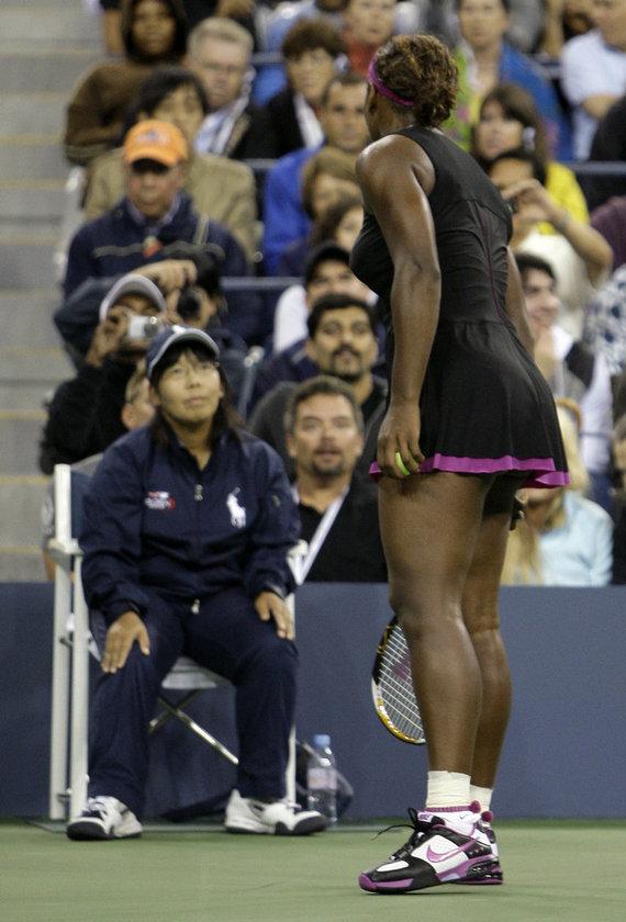 """""""Scanpix"""" nuotr./Serenos Williams incidentas 2009 metų """"US Open"""""""
