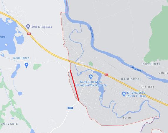Norint iš Dėdeliškių kaimo patekti į toje pačioje savivaldybėje esančią parduotuvę Lentvaryje, reikia kirsti Vilniaus savivaldybės ribas