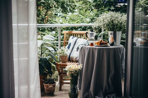 Shutterstock nuotr./Balkono interjeras