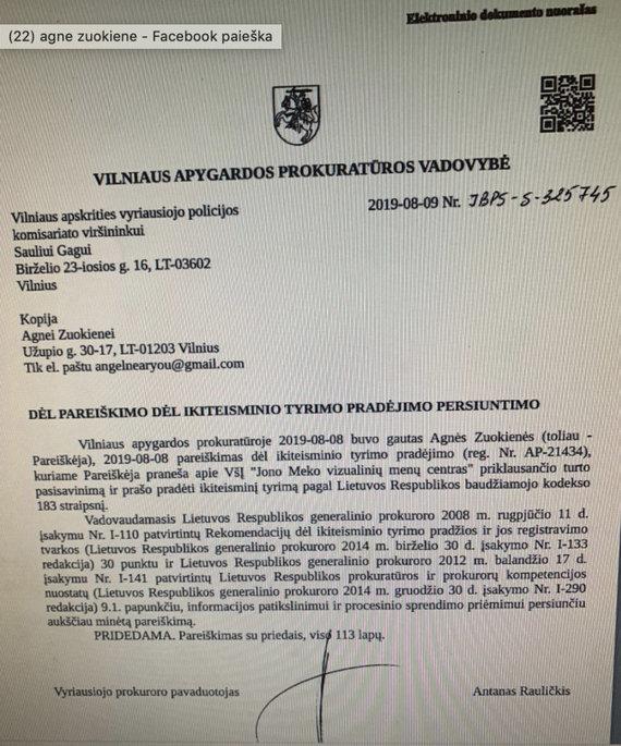 JMVMC nuotr./Atmestas A.Zuokienės skundas prieš Jono Meko vizualiųjų menų centrą