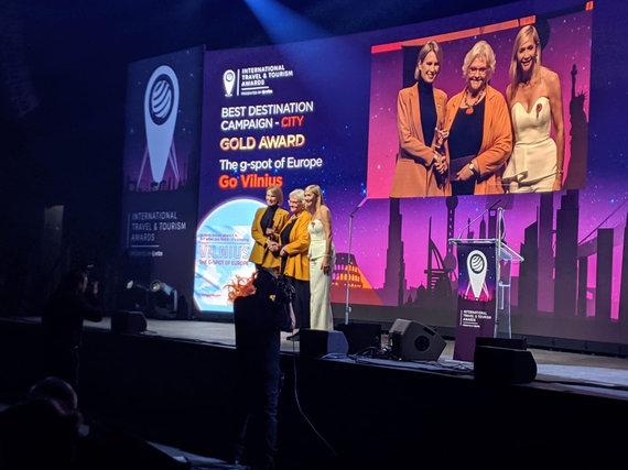 """""""Go Vilnius"""" nuotr./Apdovanojimu ceremonija ITTA WTM London"""
