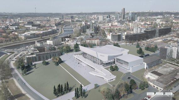 Turto banko nuotr./Vilniaus kongresų centro vizualizacija