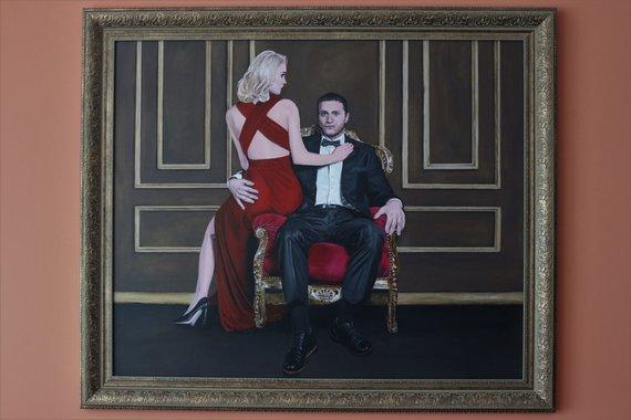 Asmeninio albumo nuotr./Viktorijos Arlauskienės tapytas šeimos portretas