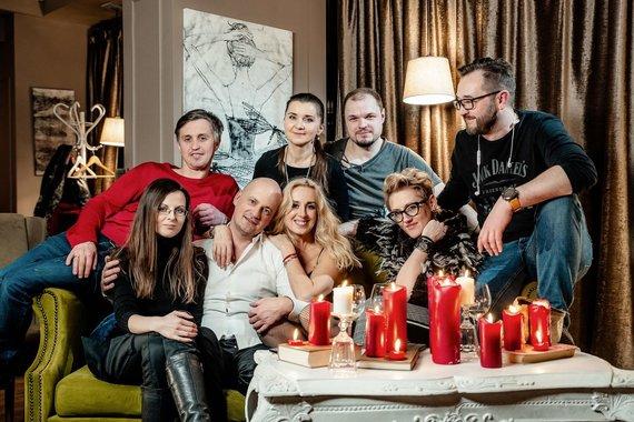 """Laimono Tamošiūno nuotr./Dainos """"Kas buvo tas buvo"""" vaizdo klipo filmavimo akimirka"""